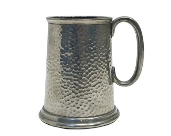 Civic Pewter Tanked Beer Mug with Glass Bottom Made in Englend