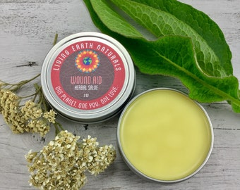 Wound Aid- Herbal Salve- First Aid- Arnica Salve- Comfrey Salve- Healing Salve- Burns- Cuts- Bruises- Organic Salve- Tattoos- Bites- Stings