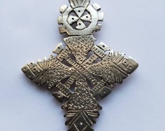 Ethiopian Coptic Cross Pendant, Ethiopian jewelry, Ethiopian pendant, Cross pendant, silver cros