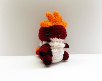 Crochet Tyrantrum Inspired Chibi Pokemon