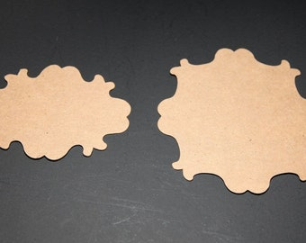 Vintage Chipboard Die Cut Set of 16