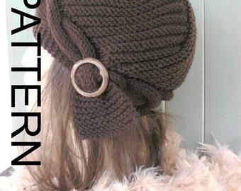 DIY Hat Knitting Pattern , Instant Download Knit hat pattern- Digital  PDF - DIY Cable Knit hat  Pattern -  Handmade Cloche Hat Knit Pattern