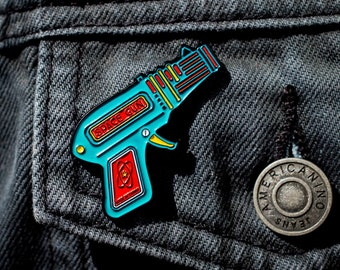 Retro Ray Gun Soft Enamel Pin, Sci Fi, Jewelry, Lapel Pin, Art, Gift
