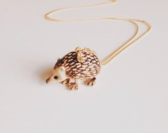Porcelain Hedgehog Necklace
