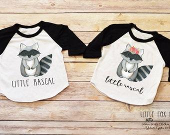 Raccoon Shirts, Siblings Shirt, Matching Sibling Shirts, Family Shirts, Twins Shirts,  Woodland Creatures, Raccoon Shirt