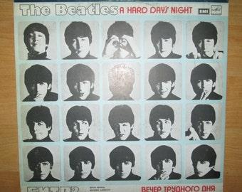 Beatles Record Album A Hard Day's Night Melodiya Russia USSR Vinyl LP Soviet version John Lennon Paul McCartney Rock