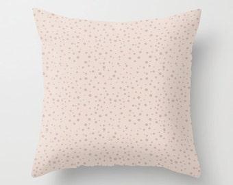 Polka Dot Pillow WITH Insert, Rose Pink Pillow Cover, Polkadot Throw Pillow Case, Polka Dot Decor, Rose Peach Pillow Cover, Pink Polka Dot