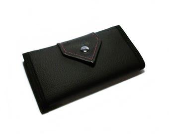 Minimalist Handmade Wallet, Vegan Friendly, Vegan Leather Wallet, Ladies Leather Wallet, Trifold, Womens Wallet, UNUSUAL