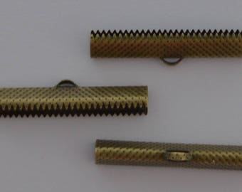 10 tips for 3.5cmx0.8cm Ref - antique bronze Ribbon claws: GRB 610