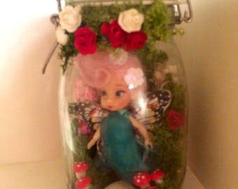 "Handmade Fairy In A Jar  ""Blossom Cotton-Top"""
