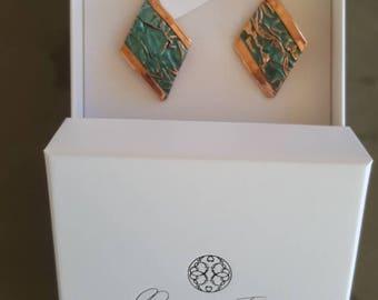Copper earrings and Jewellery enamels