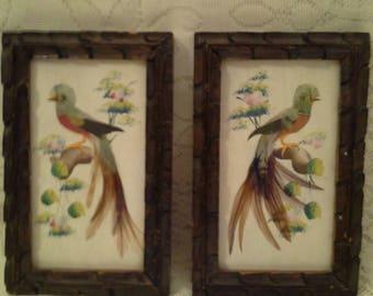 Vt. Folk Art - Birds w/ Feathers