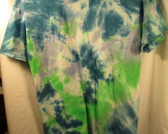 Blue and Green Unisex Tie Dye Shirt