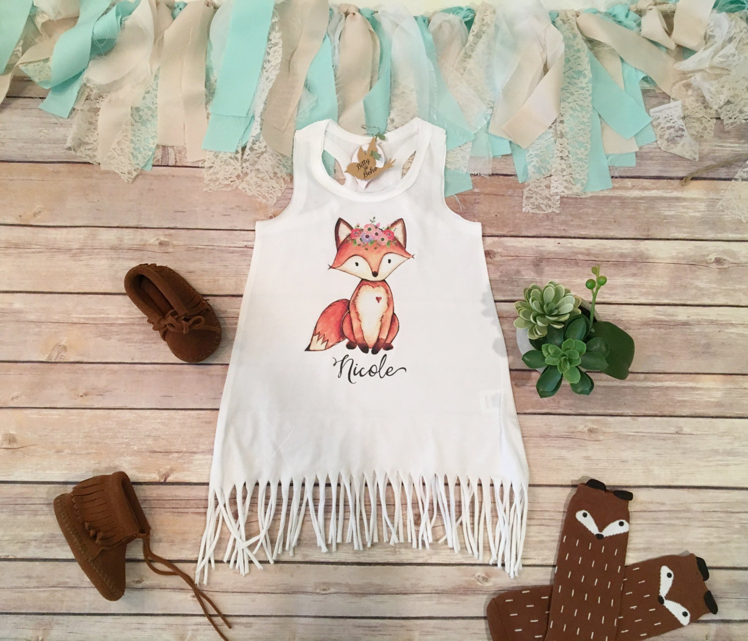 Boho Baby Clothes Fox Baby Fringe Dress Cute Baby Clothes