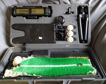 Vintage Mitsubishi Electric Golf Trainer Swing Analyzer GL 500 in hard case working!