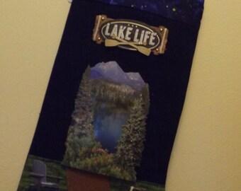 Awe-the Lake life! stocking.