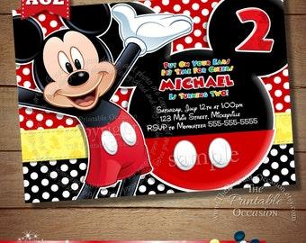 Mickey invitations etsy filmwisefo Gallery