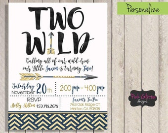 Two Wild Invitation, Two Wild Invite, Two Wild Birthday, Two Wild Party, Second Birthday, Wild One Birthday, Wild One Invite, DIGITAL FILE