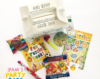 Childrens Pre-filled Colour-Me-In Party Boxes