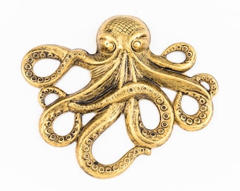 65mm Antique Gold Octopus Stamping #ZWS031