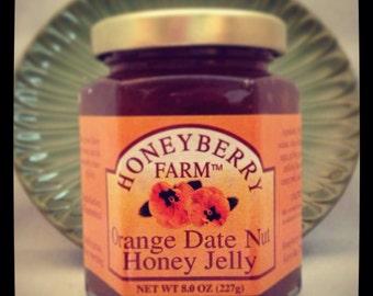 8oz Orange Date Nut Honey Jelly