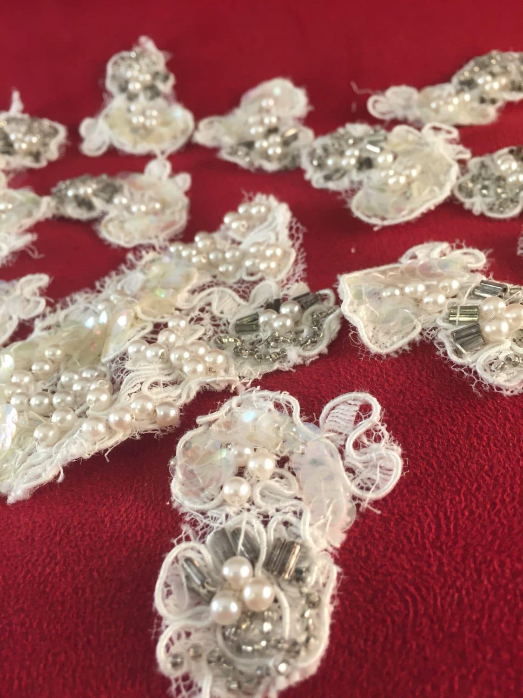 Lace Applique Embellishments Lot 10