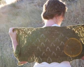 Knit Wrap Pattern / For Color Wrap / knit shawl pattern in two sizes / shawl knitting pattern / women's scarf / women's shawl /
