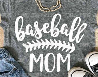 Baseball Mom svg, SVG, DxF, EpS, sayings svg, Cut file, Baseball svg, shortsandlemons, SVG Sayings, Baseball, svgs, Mama svg files, mom svg