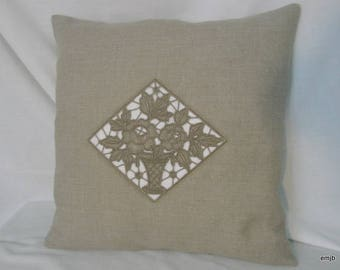 Cushion with embroidery women's Oxford