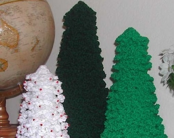 Fast and Easy Crochet Christmas Trees Pattern