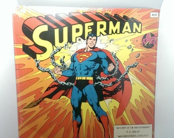 New Vintage 1975 Superman Power Record LP Vinyl DC Comics