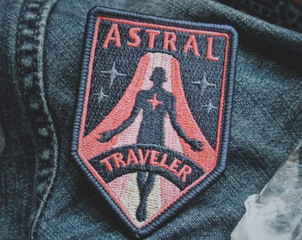 "Astral Traveler Patch - Metaphysical Fashion Accessory - 3"" Iron On Embroidered Patch - for Psychonauts & Dreamers"