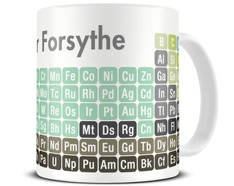 science gifts chemistry mug personalized 2017 periodic table of chemical elements mug periodic - Periodic Table Of Elements Gifts