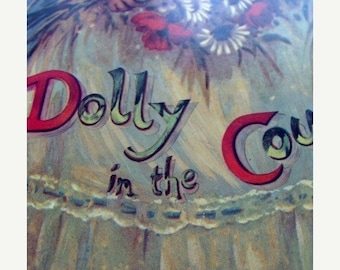ONSALE Vintage Story Book Dolly in the Country