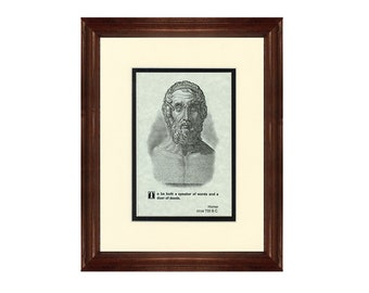 Print and Quotation of Homer with Mat and Frame