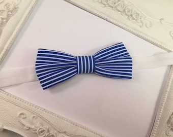 """Bow tie """"Marin"""" striped White and blue - child"""