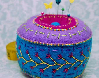 Made to order - Large Multicolor pincushion  free usa ship