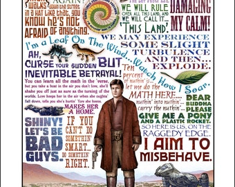 "I Aim to Misbehave- Firefly tribute print- 11""x14"" signed print"