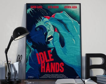 Idle Hands, Alternative Movie Poster Print, Digital, Devon Sawa
