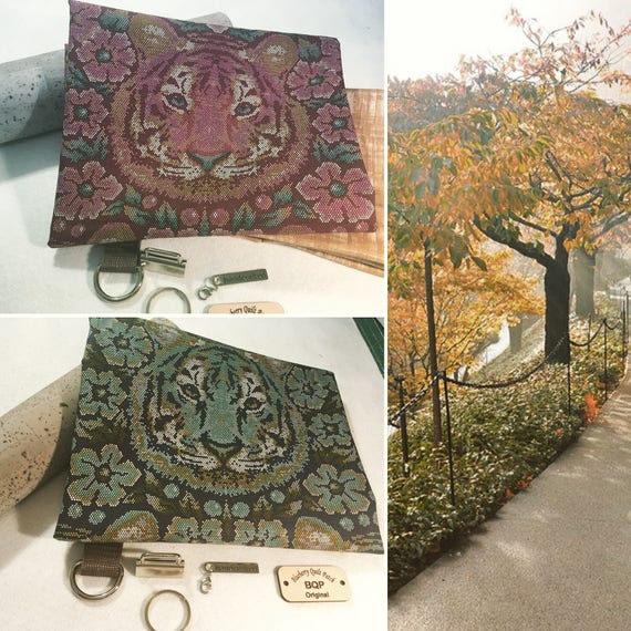 """Cork & """"Tula Tiger"""" Tote with Pattern"""