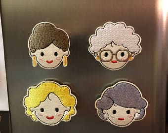 Set of 4 Golden Ladies Magnets. Golden Girls inspired. Squad Goals