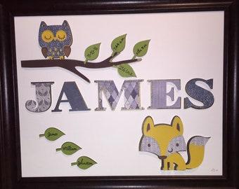 Forest Animals 3-D Paper Wall Art