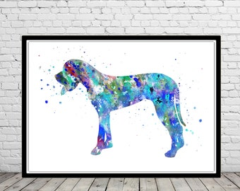 Great Dane, Great Dane Print, Great Dane print, watercolor great dane, Great Dane art, dog, Kids Room Decor, Poster