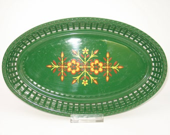 Vintage 70s bread basket or plastic tray