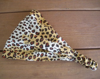 Womens Headband Fabric Headband Summer Fashion Accessories Women Head scarf Yoga Headband Headwrap Bandana in Cheetah print