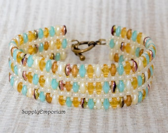 Bead Pack BB-216 Sandals 'Mystery Superduo' Bracelet, Free Tutorial Available Separately, Bead Pack BB216 Sandals Mystery Superduo Bracelet