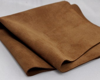 Genuine Leather , Brown  Suede Leather,