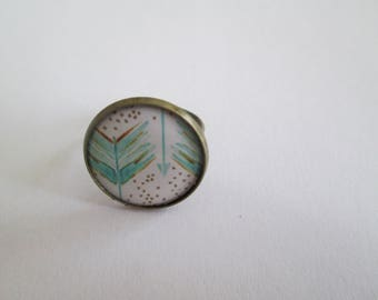 BRONZE FEATHER RING
