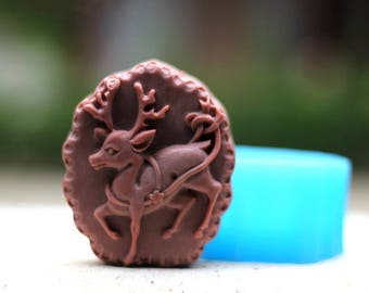 Christmas Deer Soap Mold Flexible Silicone Mould For Handmade Soap Candle Candy Cake Fimo Resin Crafts bath bomb mold Chocolate mold
