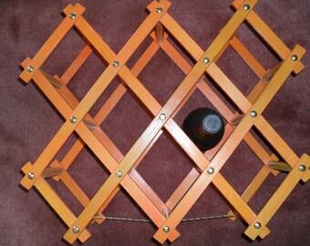 Wood Wooden Wine Rack Vintage